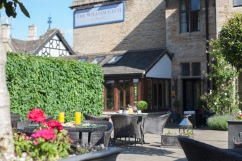 Enjoy breakfast terrace side at The William Cecil